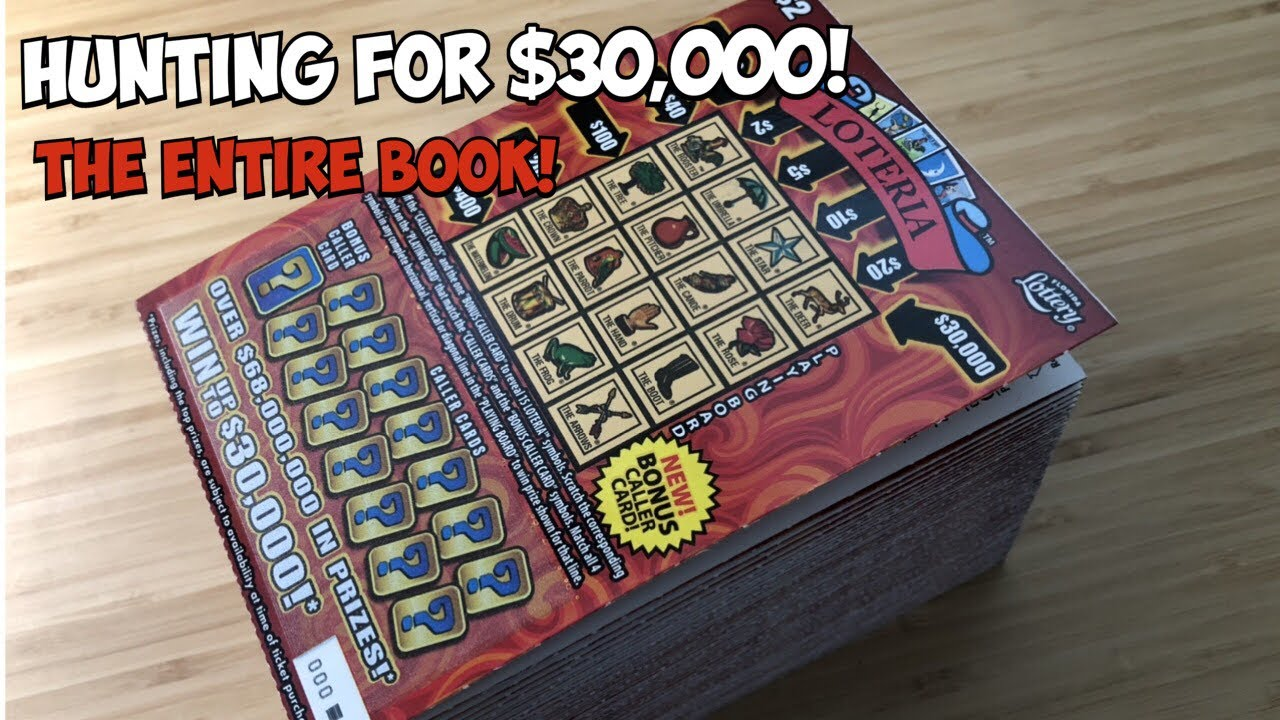 Hunting for $30,000!! | Entire book of Loteria scratch tickets | $300 retail value