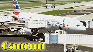 FSX - American Airlines 777-200 Turbulent Approach to Cancún