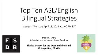 Pineapple University: Top 10 ASL/English Bilingual Strategies