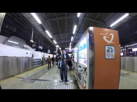 Post Japan trip lost videos: Shinkansen platform at Nagoya station