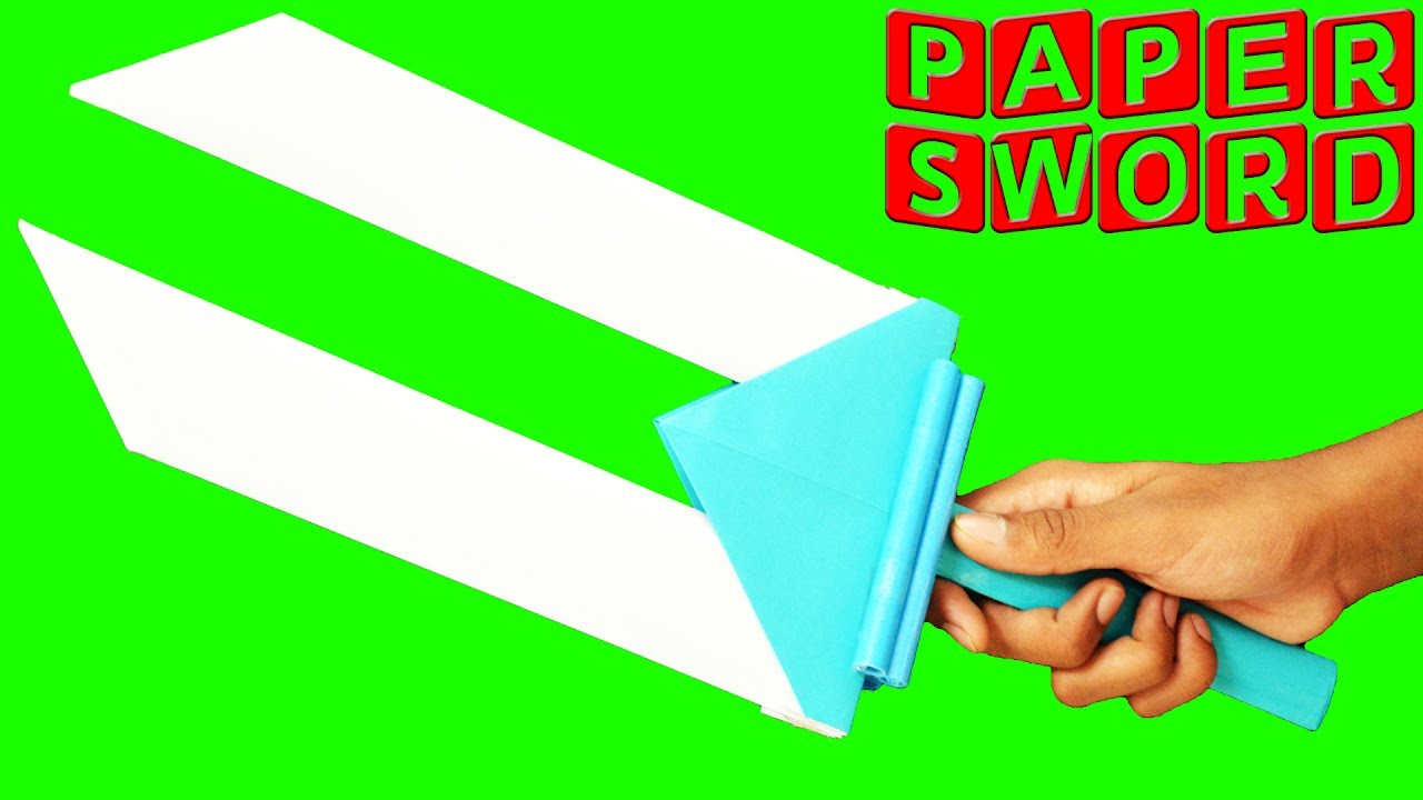 How To Make A Paper Sword Easy Youtube Origami An Style