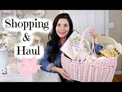 🎃DOLLAR TREE SHOP WITH ME & FALL DECOR HAUL🎃