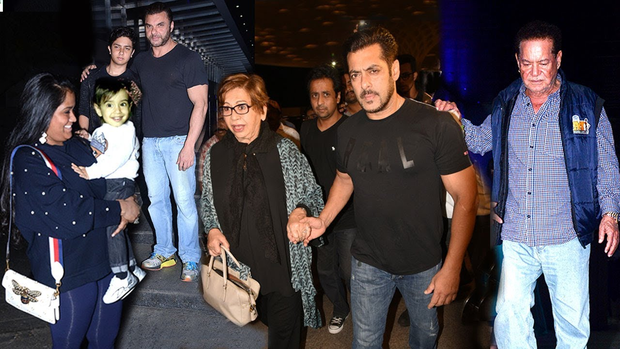 Salman Khan With Family At Mother Helen's 80th Birthday ...