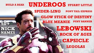 Tony Stark nick naming others | 50+ nick names by tony stark | Father of nick names tony stark
