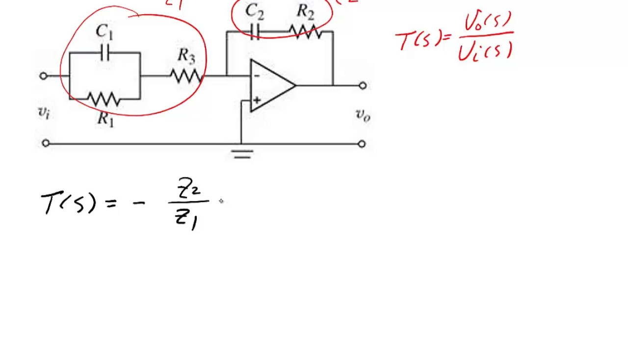 me 340  example - finding the transfer function of an op-amp circuit  2