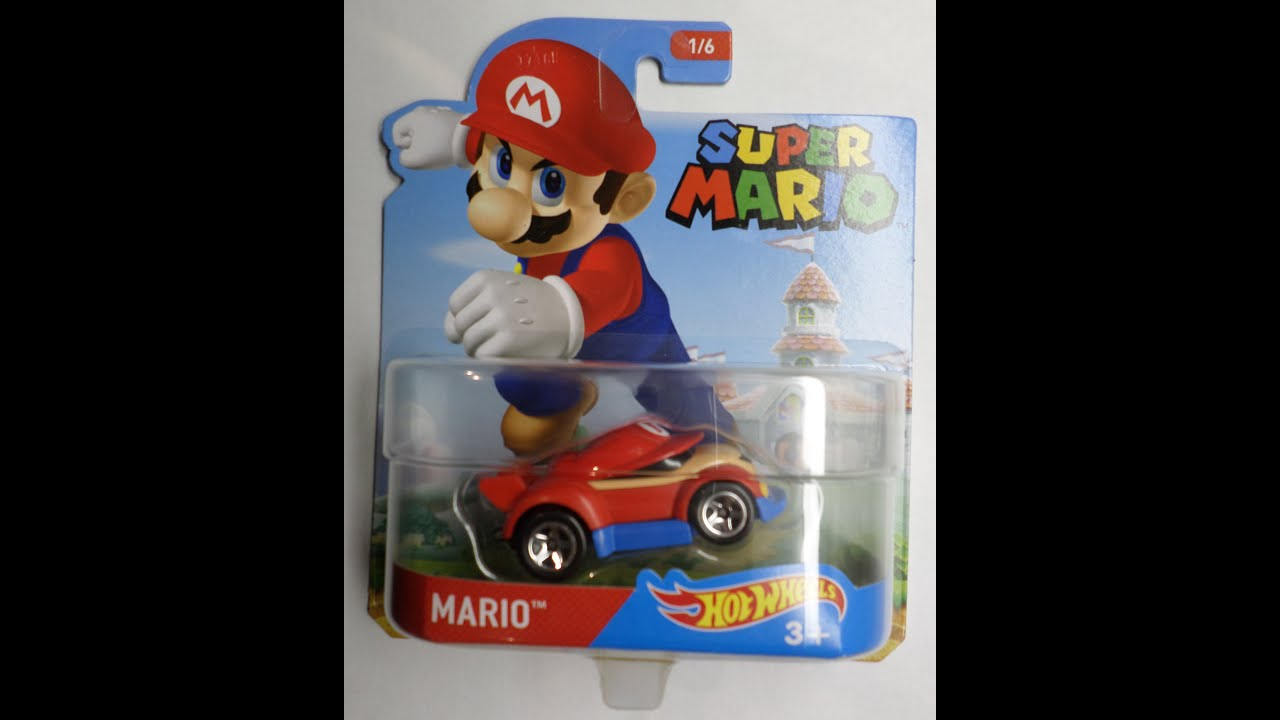 Hot Wheels 2016 Unboxing Super Mario Character Cars Luigi