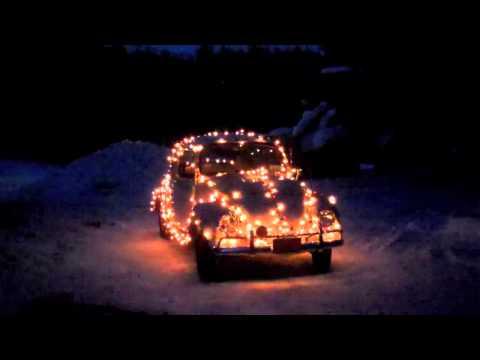 67 VW Beetle Christmas Lights