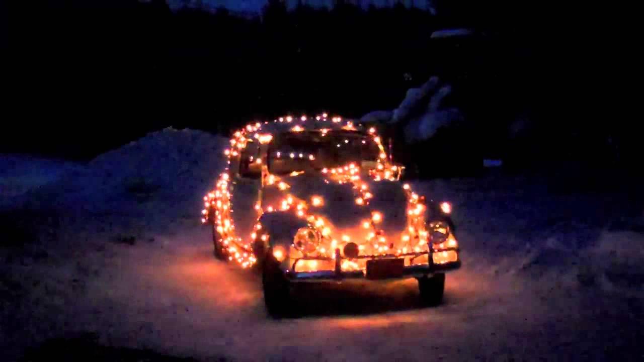 vw beetle christmas lights youtube