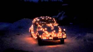 67 VW Beetle Christmas Lights