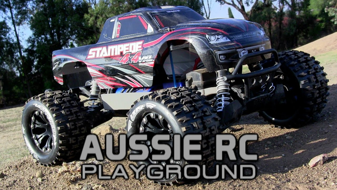 Traxxas Stampede 4x4 VXL With New Tires on 3S LiPo