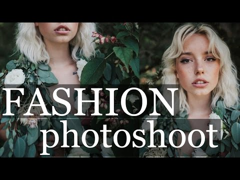 FASHION EDITORIAL PHOTOSHOOT | behind the scenes working with models 35mm natural light portraits