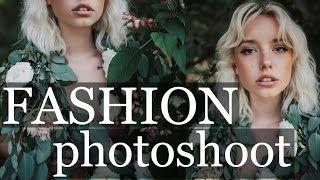 FASHION EDITORIAL PHOTOSHOOT   behind the scenes working with models 35mm natural light portraits
