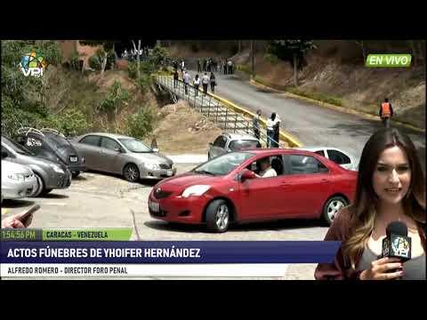 Venezuela - Actos fúnebres de Yhoifer Hernández- VPItv