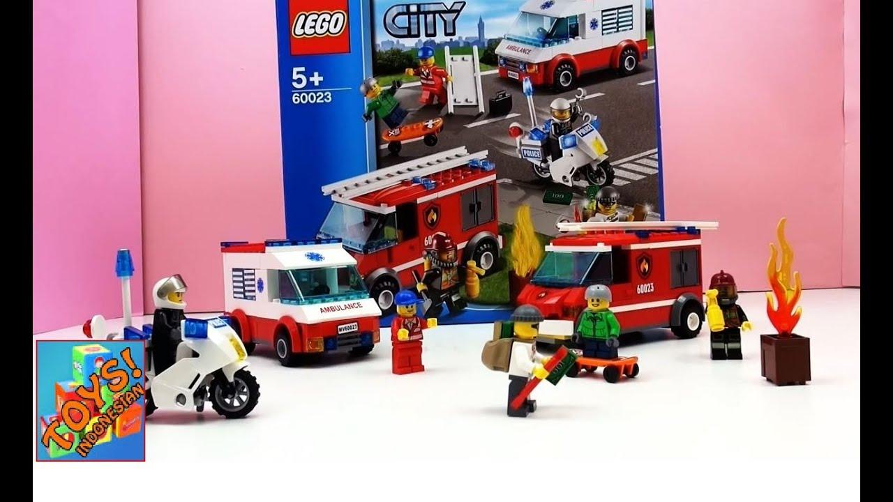 Lego City Pemadam Kebakaran Polisi Ambulans Lego City Starter