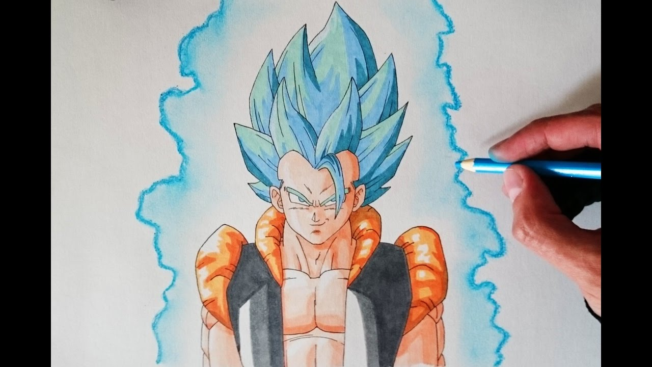 Cómo Dibujar A Gogeta Super Saiyan Dios Azul How To Draw Gogeta Super Saiyan God Blue Youtube