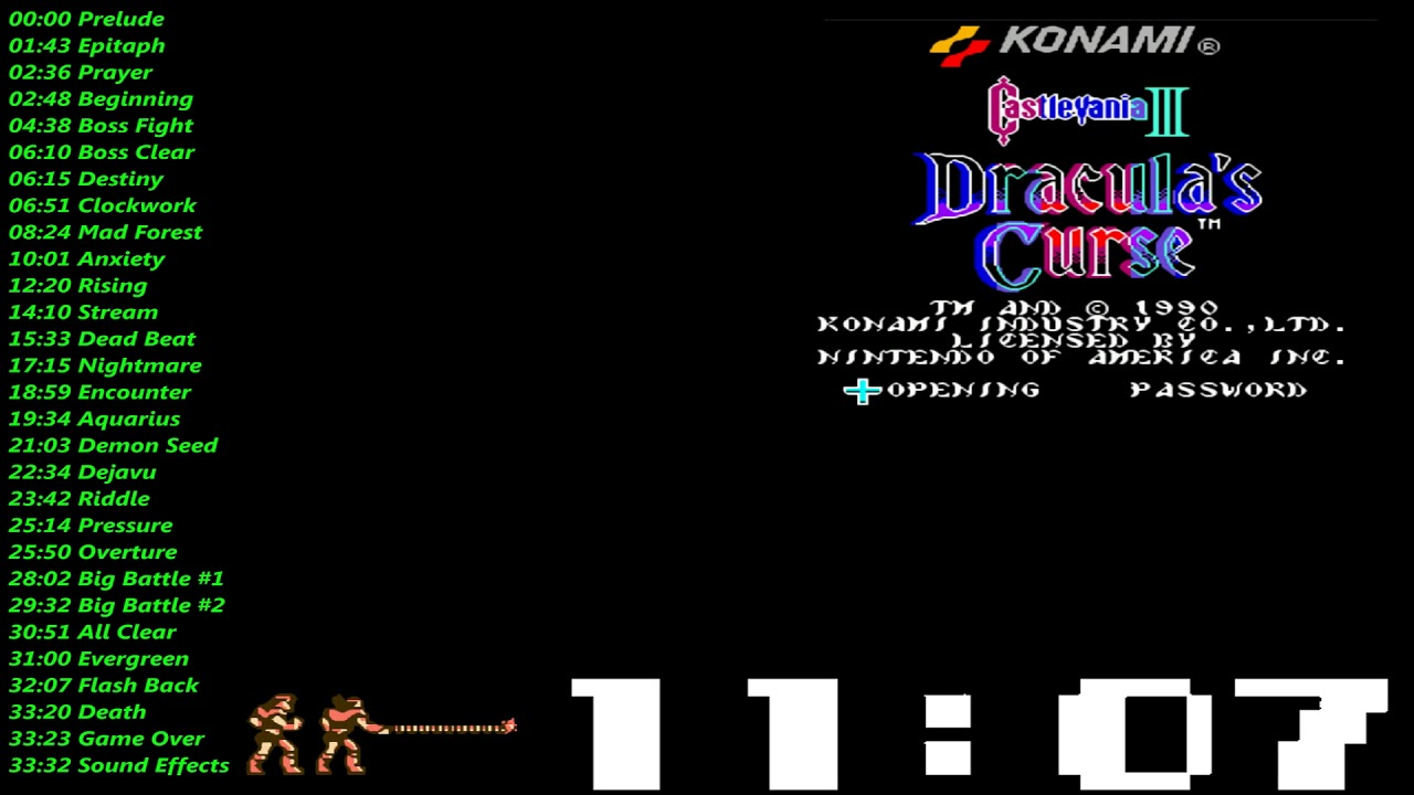 Akumajou Densetsu (FC) & Castlevania III (NES) Hybrid Mix Music / Soundtrack