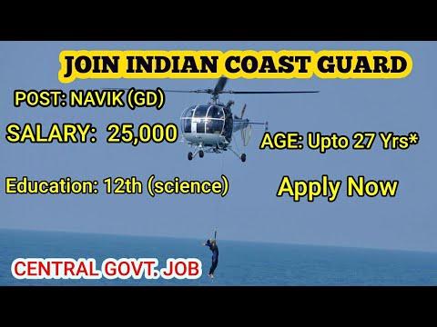 Indian coast guard navik (GD) recruitment