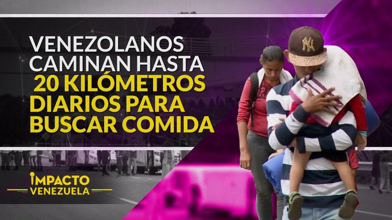¡CRUELDAD! Venezuela, un país de caminantes   Impacto Venezuela