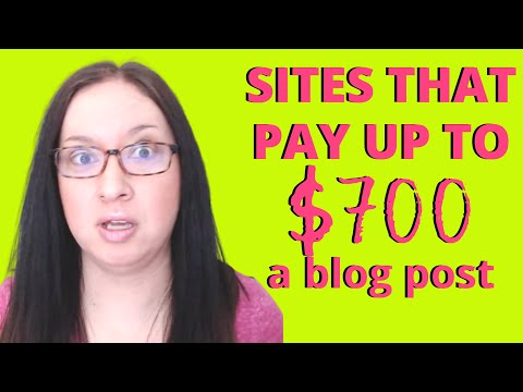 30 SITES THAT PAY UP TO $700 A POST: Get paid to freelance write with paid guest posting