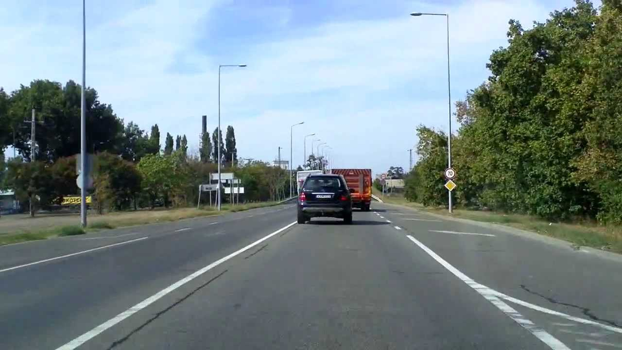 Budapest: driving road #5 inbound from M0 to Pesterzsébet (real time)