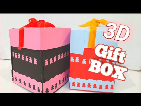 How to make 3D Gift Box | Explosion gift box | Papercraft