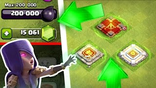 Clash Of Clans - 14,000+ GEMS vs THE HERO'S!! - UPGRADING TO NEW LEVEL ABILITY!