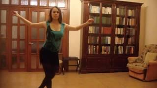 Малахова Елена, латинский танец, тренировка дома
