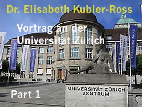 Ärztin Elisabeth Kübler Ross hält einen Vortrag an der Universität Zürich. Teil #1