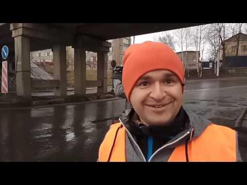 Рыбинск, ул  Софийская_Ямочный ремонт под дождём