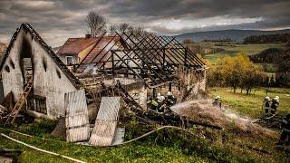 Spłonął budynek gospodarczy w Wilkowisku
