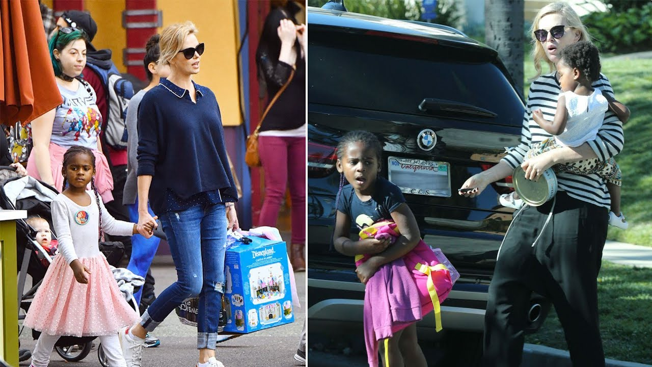 Charlize Therons Son Jackson Theron Daughter August Theron 2017