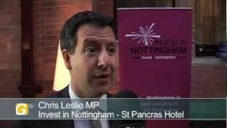 Chris Leslie, MP, at Invest in Nottingham Day London 2011