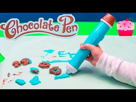 CHOCOLATE PEN How To make Chocolate Art a Chocolate Surprise Video