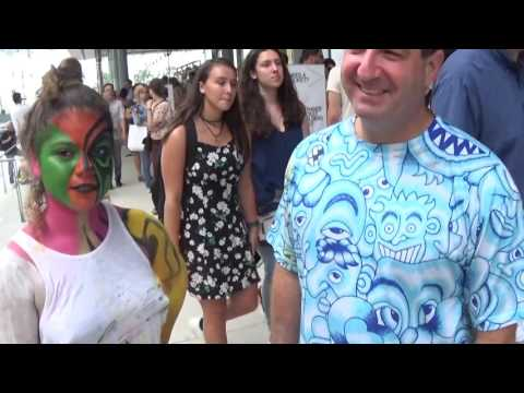 Bodypainting in Meatpacking District in New York Part 3 filmed on Saturday July 30, 2016