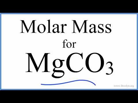 Molar Mass Of MgCO3: Magnesium Carbonate