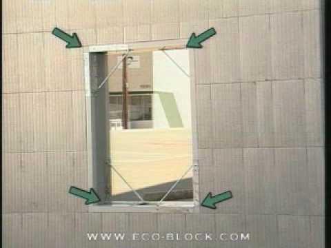 Eco Block Training Part 9 Wall Openings Youtube