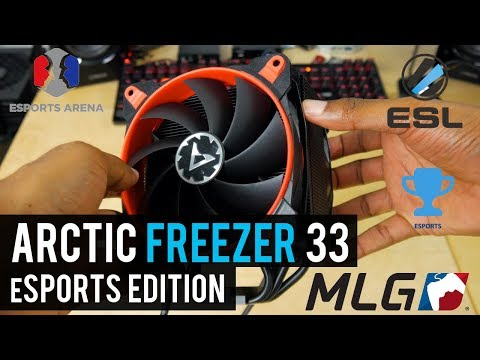 This is an eSPORTS CPU COOLER   ARCTIC Freezer 33 eSports Edition