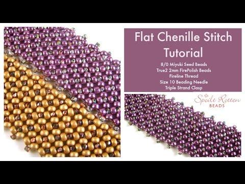 Flat Chenille Stitch Tutorial