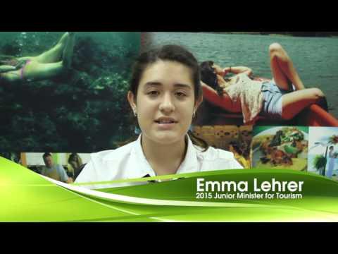 Caribbean Tourism Month Message – Emma Lehrer, 2015  Junior Minister for Tourism