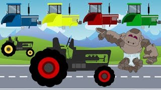 The Cabin fall off on Tractor! Funny Baby STONE-GIANT and broken Cabins | repairs with Dad