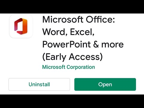 How To Download & Install Microsoft New Office All-in-One App V16 In Android Word, Excel, PowerPoint