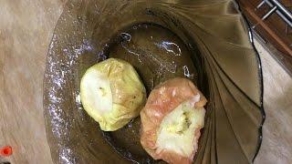 Как приготовить печёные яблоки в микроволновой печи