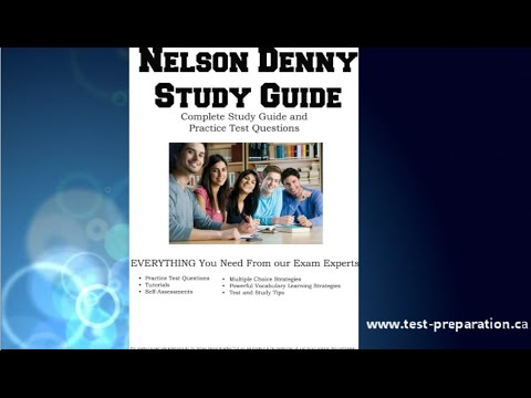 Nelson Denny Test information, test prep and free practice questions