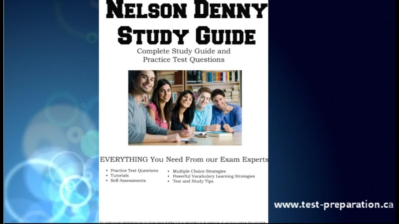 nelson denny reading test 2018