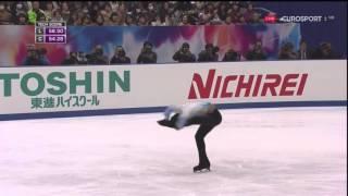 2015年NHK杯、羽生結弦選手のSPの、B・ユーロスポーツ解説日本語翻訳で...