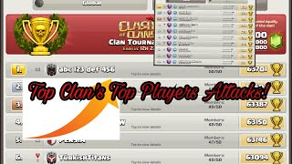 Watch Top Player's Attack From Top Clan Of The World!-Clash Of Clans