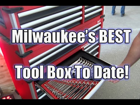 "NEW! Milwaukee Mechanics Tools & Awesome New 46"" Wide 22"" Deep Premium Tool Chest"