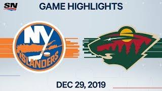 NHL Highlights   Islanders vs. Wild - Dec. 29, 2019