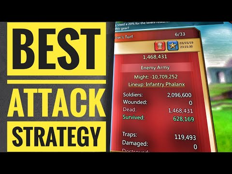 Lords Mobile Best Attack Strategy!