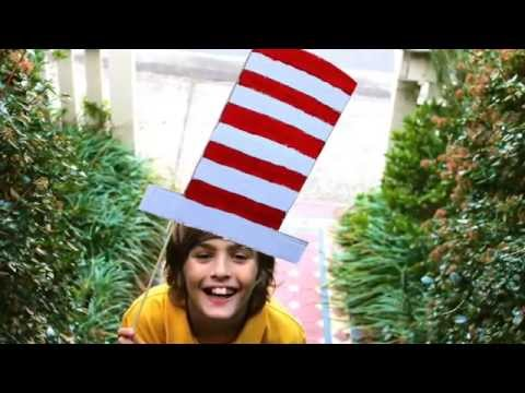 How To Make A Super Easy Cheats Cat In The Hat Costume Youtube